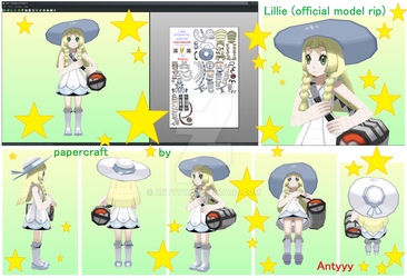 Lillie (official model) papercraft (free download) by Antyyy