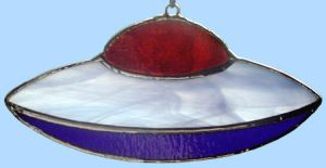 Stained Glass UFO by bigblued