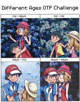 Amourshipping: different ages. by SophieLaurel1