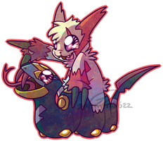 Chibi Pokemon - Zangoose and Seviper