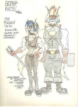 Scrap Rats, Kivia and  Url, The Ragnox siblings by gothold