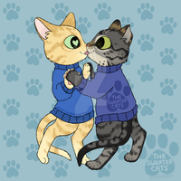 thesweatercats - Kitty Kiss by colormymemory