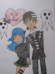 Death the Kid and Angel by cat55