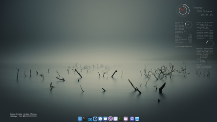 Linuxmint 18 + Conky + Covergloobus by punkedsinatra