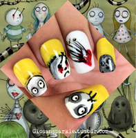 The World of Stain Boy Inspired Nail Art by glossnsparkle