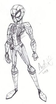 Infinity War Spider-Man Sketch WIP by botconboy