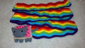 Nyan Cat Scarf by Stormieisabeast