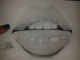 My first sketch of Lips by OreoQueen01