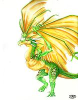 Green Wyvern by Rachet777