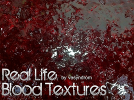 Real Life Blood Textures by vasyndrom
