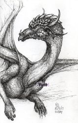 Dragon doodle by xHideFromTheSunx