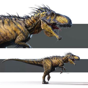 Jurassic World Concept Art - Early I. Rex concept by IndominusRex
