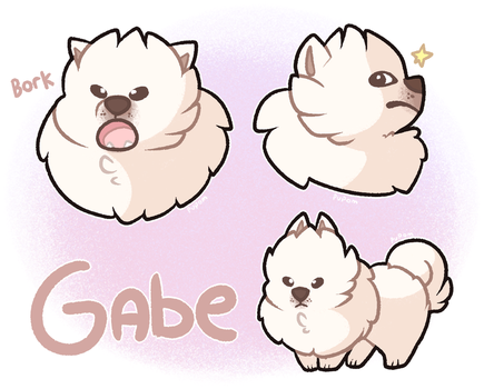 Gabe the Dog by pupom