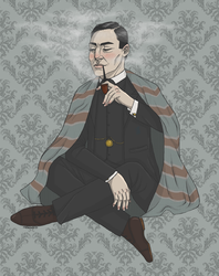 Sherlock Holmes and the Case of the Ugly Blanket by Zelda-Chan202