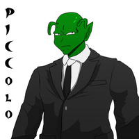 Piccolo in business suit by fighterxaos