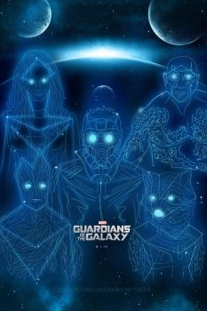 GUARDIANS OF THE GALAXY CONSTELLATION iPhone 4 by hyugewb