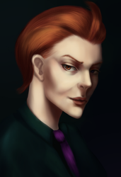 Moira casual - portrait practice - overwatch by eschata