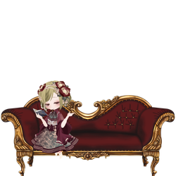 Vintage Sofa with Girl ver. Red by Rosemoji