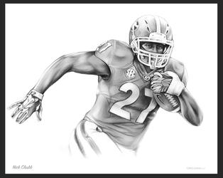 Nick Chubb by gregchapin