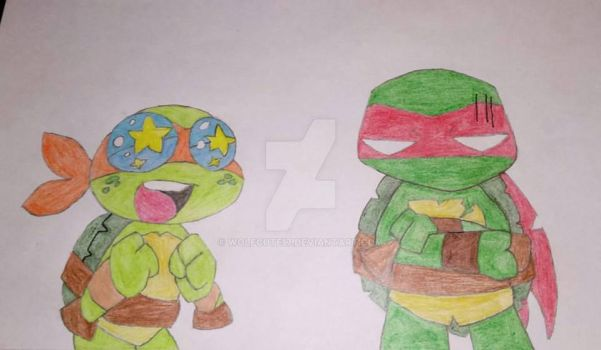 Michelangelo and Raphael 2 by wolfcute17