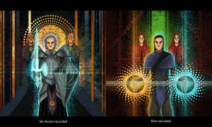 Dragon Age Keep Recruitment: Avrum and Rion by drathe