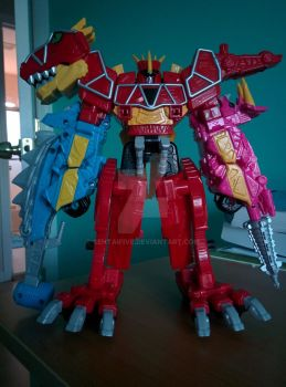 Dino Charge Megazord Tri-Ankylo Formation by SentaiFive