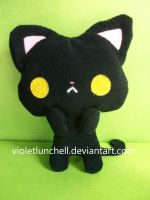 Black kitty plushie by VioletLunchell