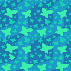Background: Butterflies (Turquoise) by katsu-bases