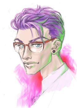 Guy with glasses by ConnyChiwa