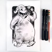 Inktober Day 12 - Oogie Boogie by D-MAC