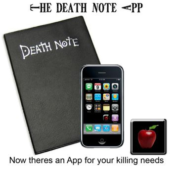 The Death Note App by dimensioncr8r