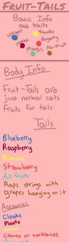Fruit-Tails Basic Info and Traits by MoonBeamzz