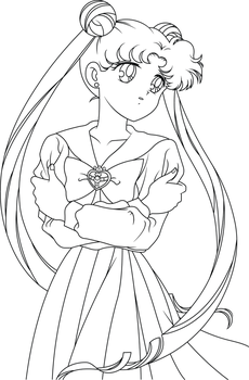Sailor Moon Line Art by SayurixSama