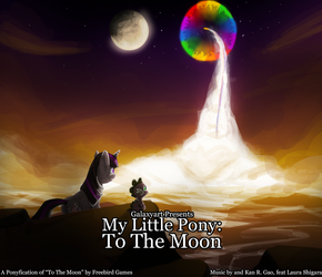 MLP: To The Moon 2 by Galaxyart