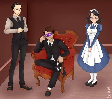 Commission  Hypnotized butlers by EneTheLigthingDancer