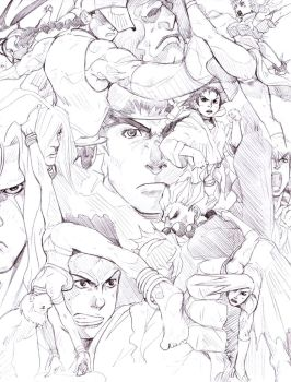 Street Fighter Jumble B by Maki-Ubermach