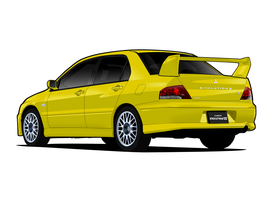 V - Mitsubishi Lancer Evo VII by me-myself