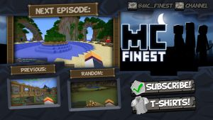 Youtube Endslate - Minecraft Finest by FinsGraphics