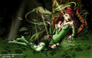 Poison Ivy colored by WaltLindsay