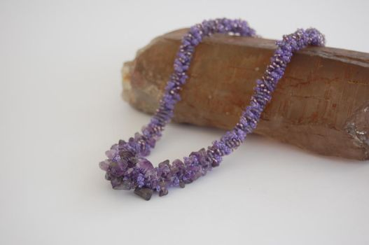 Amethyst Chips Necklace by innocenteyes89