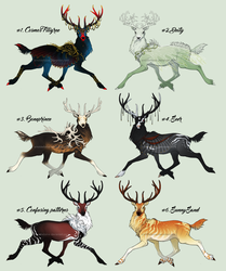 Let's play dressup! Stag adoptables - {CLOSED} by SmolderBone