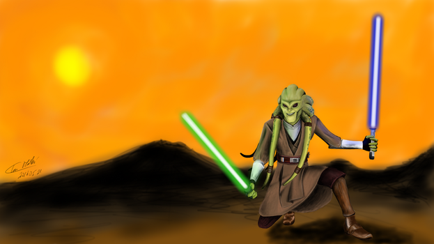 Star Wars Fisto : Samsung Galaxy Note 3 Sketchbook by Lechadias