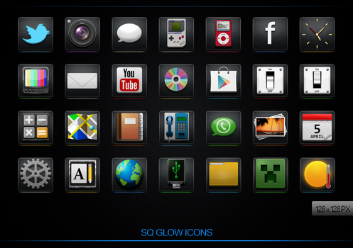 SQ Glow icons by iLLTeKK