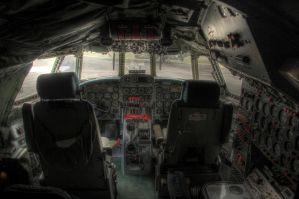 Lockheed Super Constellation cockpit by RichardjJones