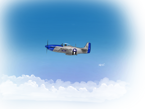 P-51 by RobtheDoodler