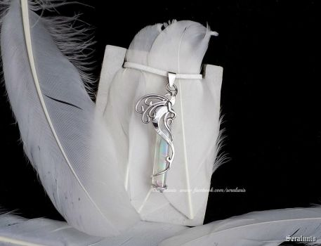 'Angelic Guardian'sterling silver pendant FOR SALE by seralune