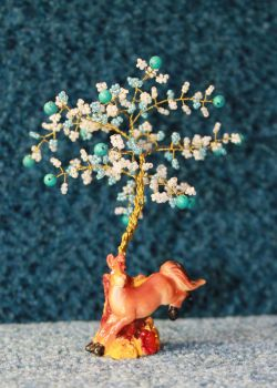 A little turquoise wishing tree by Spirit-of-Laharah