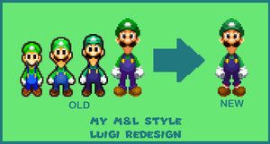 My Mario and Luigi Style Luigi Redesign by ericgl1996