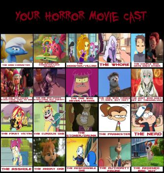 My Horror Movie Cast Meme by YukiSatash01