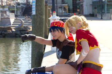Chrono Cross - Kidd and Serge Photoshoot 5 by octomobiki